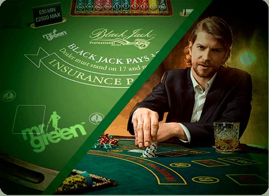 Blackjack Mr Green