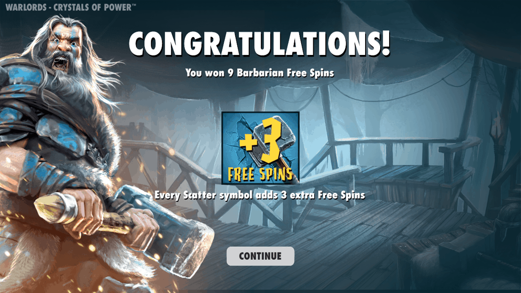 free spin feature warlords