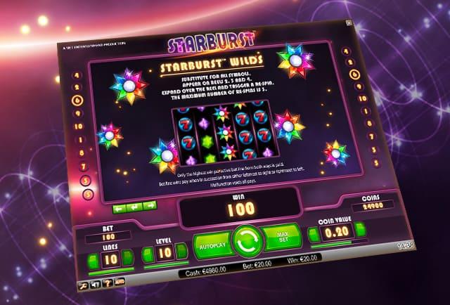 Up to £100 Bonus! Play Starburst Slot at Mr Green