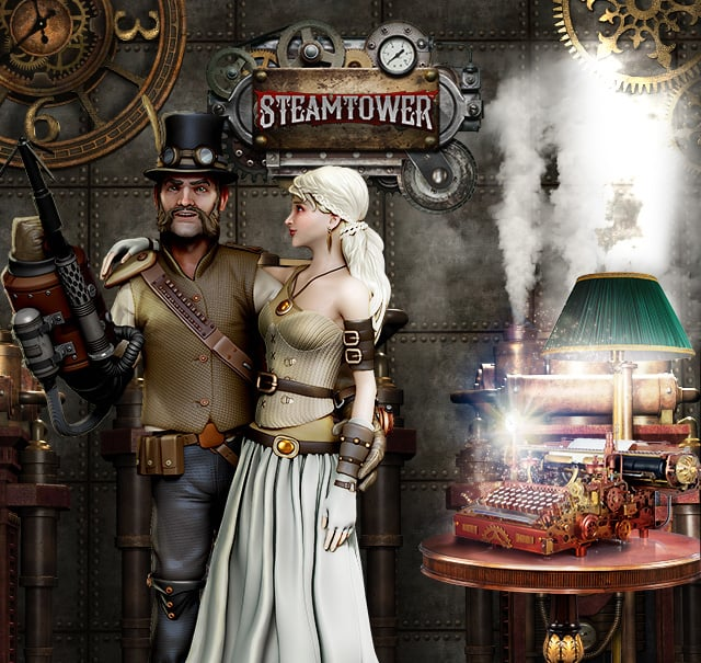 Steam tower spilleautomater